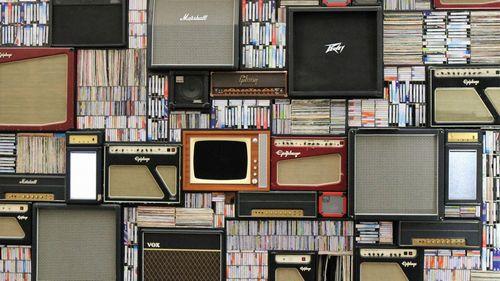 たくさんのギターアンプ