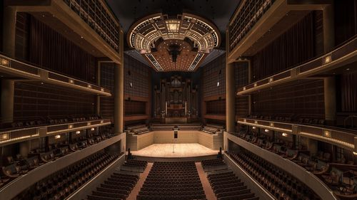 クラシック音楽を演奏するホール
